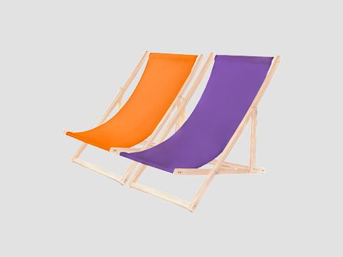 Leżaki plażowe z nadrukiem